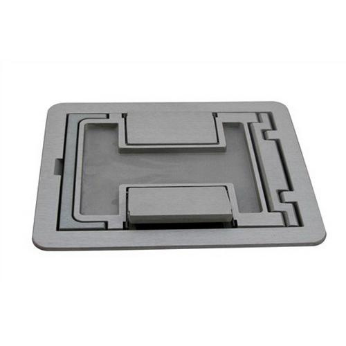 Wiremold FPCTCAL Die Cast Aluminum Flanged Cover Assembly 6-1/2 Inch x 7-3/4 Inch FloorPort™