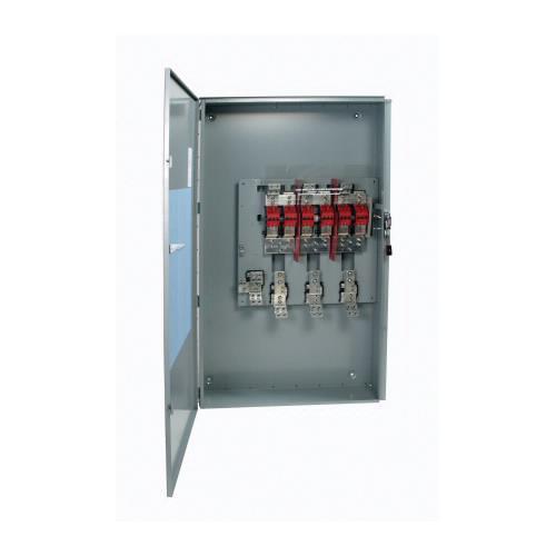 Eaton DH368NRK 4 Wire 3 Pole Fusible K Series Heavy-Duty Safety Switch 600 Volt AC 1200 Amp NEMA 3R