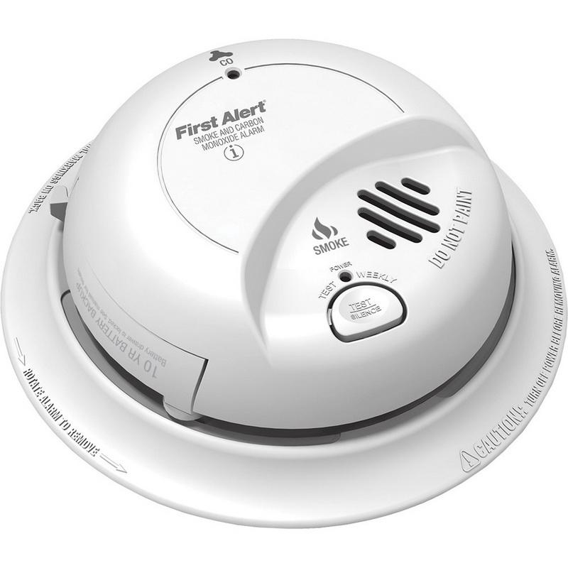BRK SC9120LBL Single/Multi Station Smoke and CO Alarm With 9 Volt Lithium Battery Backup 120 Volt AC First Alert®