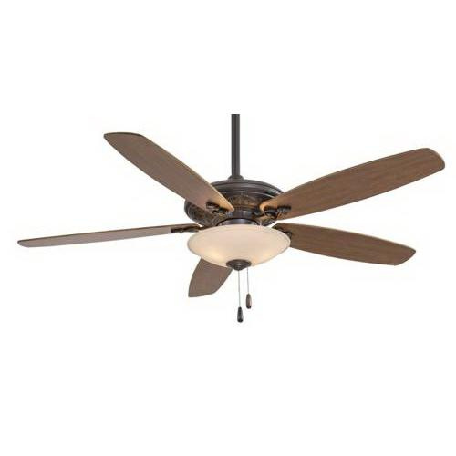 Minka-Aire F622-ORB/TS Traditional Mojo Ceiling Fan With Light 52 Inch 5 Blade 3 Speed Oil Rubbed Bronze