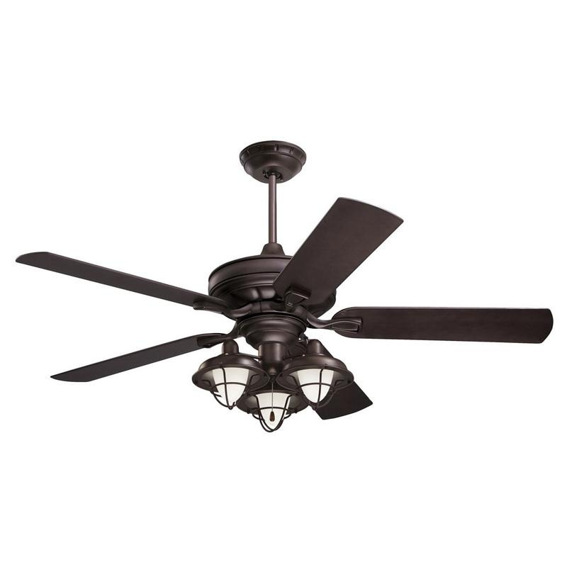 Emerson CF552ORB Veranda Indoor/Outdoor Ceiling Fan 5967 CFM 52 Inch 5 Blade 3 Speed All-Weather Oil Rubbed Bronze