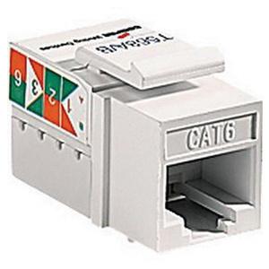 cooper wiring device 5546 6v thermoplastic data jack insert ivory rh walterswholesale com data jack wiring diagram