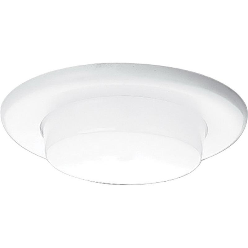 Progress Lighting P8009-60 IC/Non-IC 6 Inch Round Recessed Drop Opal Trim With Reflector 1-Light White