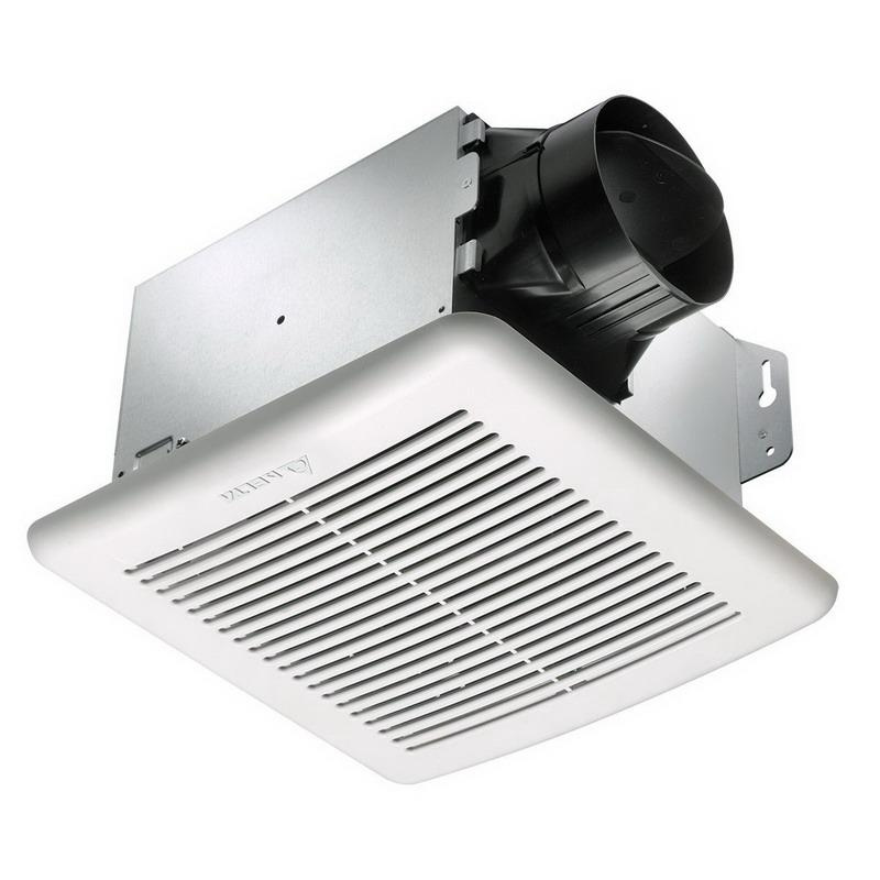 Delta GBR80H Ventilation Fan With Humidity Sensor 4 Inch Duct 50 CFM at 0.1 Inch Low Static Pressure 80 CFM at 0.1 Inch Full Static Pressure