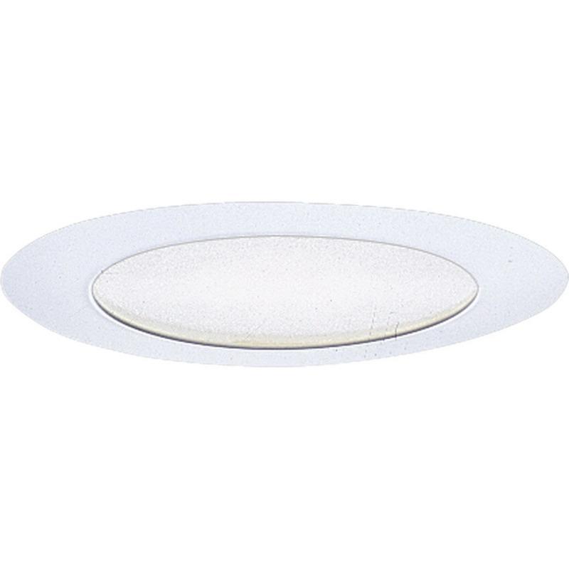 Progress Lighting P8020-28 Non-IC 6 Inch Round Recessed Flat Albalite Shallow Shower Light Trim 1-Light White