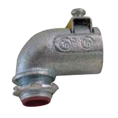 Topaz Electric 492TBS Malleable Iron Insulated Throat Top-Bite Saddle 90 Degree Connector 3/4 Inch