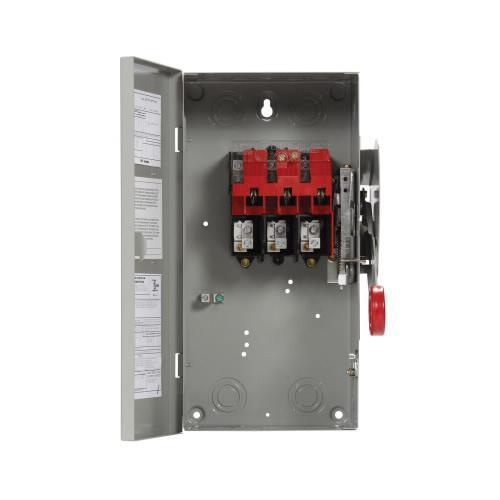Eaton DH361UGK 3 Wire 3 Pole Non-Fusible K Series Heavy-Duty Safety Switch 600 Volt AC 30 Amp NEMA 1