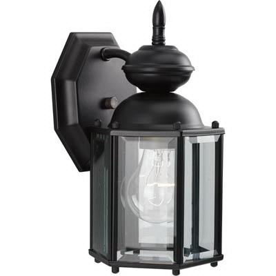 Progress Lighting P5756-31 1-Light Wall Lantern 100 Watt 120 Volt Black Painted BrassGUARD