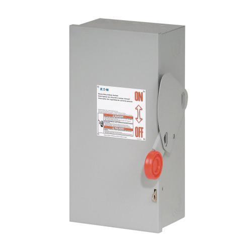 Eaton DH361NRK 4 Wire 3 Pole Fusible K Series Heavy-Duty Safety Switch 600 Volt AC 30 Amp NEMA 3R