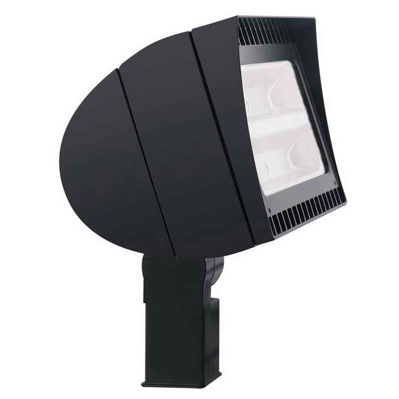 Rab FXLED78SF/PCT FXLED Series LED Flood Light Fixture 78 Watt 120 - 277 Volt Twist-Lock Photocell 5100K Slip Fitter Mount Bronze