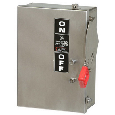GE Industrial TH4324SS 4 Wire 3 Pole Fusible Type TH Heavy-Duty Safety Switch 240 Volt AC 200 Amp NEMA 4/4X Spec-Setter™