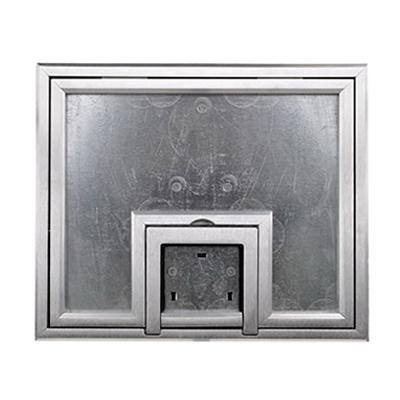 FSR FL-500P-SLP-C Aluminum Steel U-Access Floor Box Cover With 1/4 Inch Beveled Aluminum Carpet Flange (Lift Off Door) 10.5 Inch x 0.125 Inch x 12.5 Inch FL-500 Series