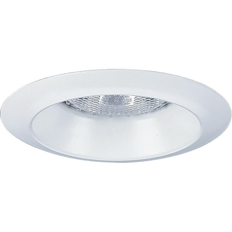 Progress Lighting P8041-WL28 IC/Non-IC 4 Inch Round Recessed Lens Less Shower Light Trim 1-Light White
