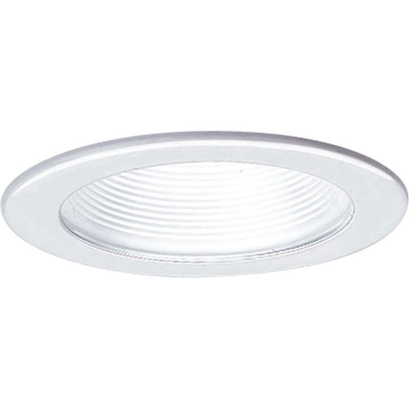 Progress Lighting P8044-28 IC/Non-IC 4 Inch Round Recessed Step Baffle Trim 1-Light White