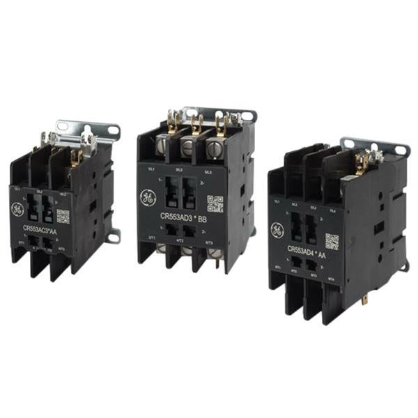GE Industrial CR553AD2ABB 2 Pole Open Type CR553 Series Full Voltage Definite Purpose Contactor 40 Amp 115 - 120 Volt AC