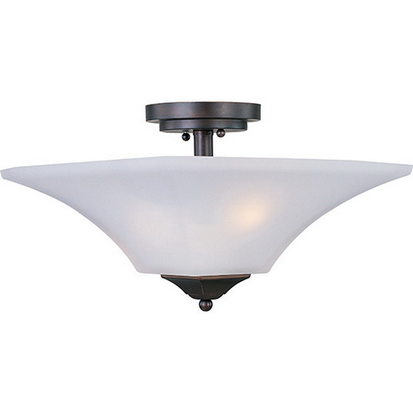 Maxim Lighting 20091FTOI 2-Light Semi Flush Mount Fixture 60 Watt 120 Volt Oil Rubbed Bronze Aurora