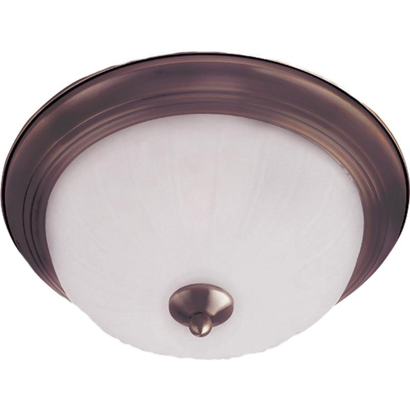 Maxim Lighting 5830FTOI 1-Light Flush Mount Ceiling Fixture 60 Watt 120 Volt Oil Rubbed Bronze Essentials - 583x