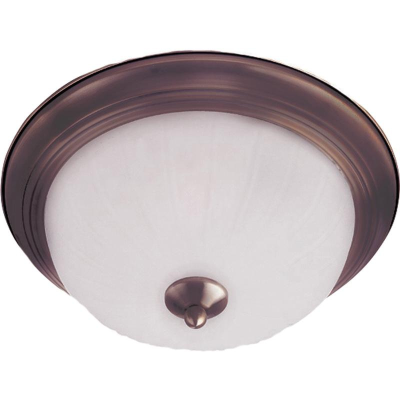 Maxim Lighting 5831FTOI 2-Light Flush Mount Ceiling Fixture 60 Watt 120 Volt Oil Rubbed Bronze Essentials - 583x