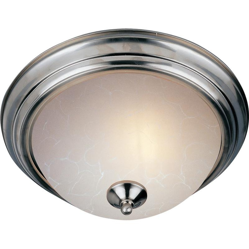 Maxim Lighting 5842ICSN 3-Light Flush Mount Ceiling Fixture 60 Watt 120 Volt Satin Nickel Essentials - 584x