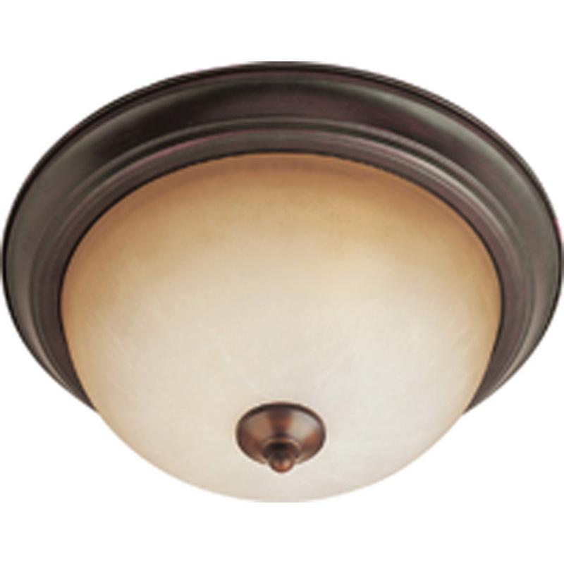 Maxim Lighting 5840WSOI 1-Light Flush Mount Ceiling Fixture 60 Watt 120 Volt Oil Rubbed Bronze Essentials - 584x