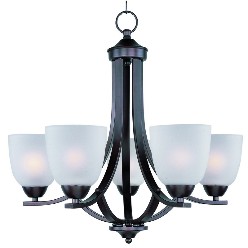 Maxim Lighting 11225FTOI 5-Light Single Tier Chandelier 60 Watt 120 Volt Oil Rubbed Bronze Axis