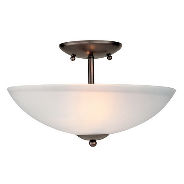 Maxim Lighting 10042FT0I 2-Light Semi Flush Mount Fixture 60 Watt 120 Volt Oil Rubbed Bronze Logan