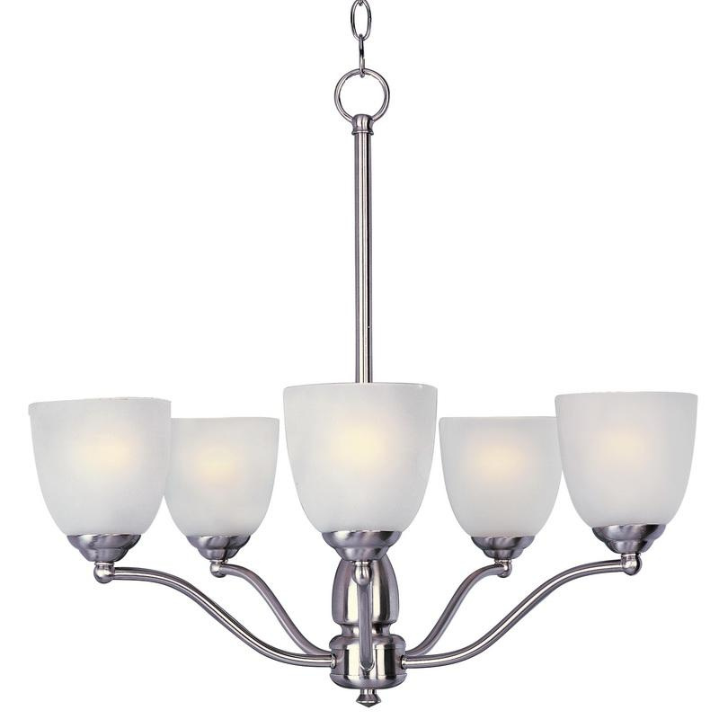 Maxim Lighting 10065FTSN 5-Light Single Tier Chandelier 60 Watt 120 Volt Satin Nickel Stefan