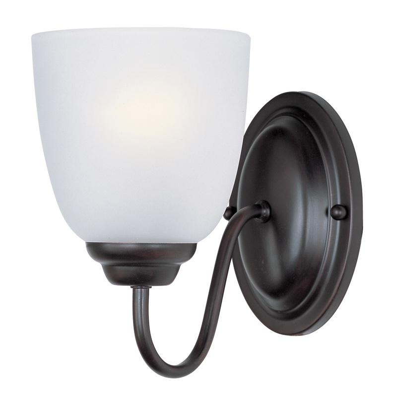 Maxim Lighting 10071FTOI 1-Light Wall Sconce 60 Watt 120 Volt Oil Rubbed Bronze Stefan