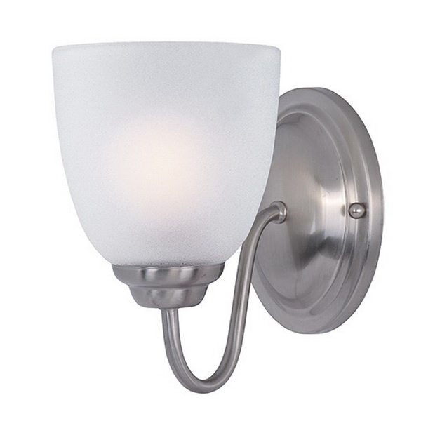 Maxim Lighting 10071FTSN 1-Light Wall Sconce 60 Watt 120 Volt Satin Nickel Stefan
