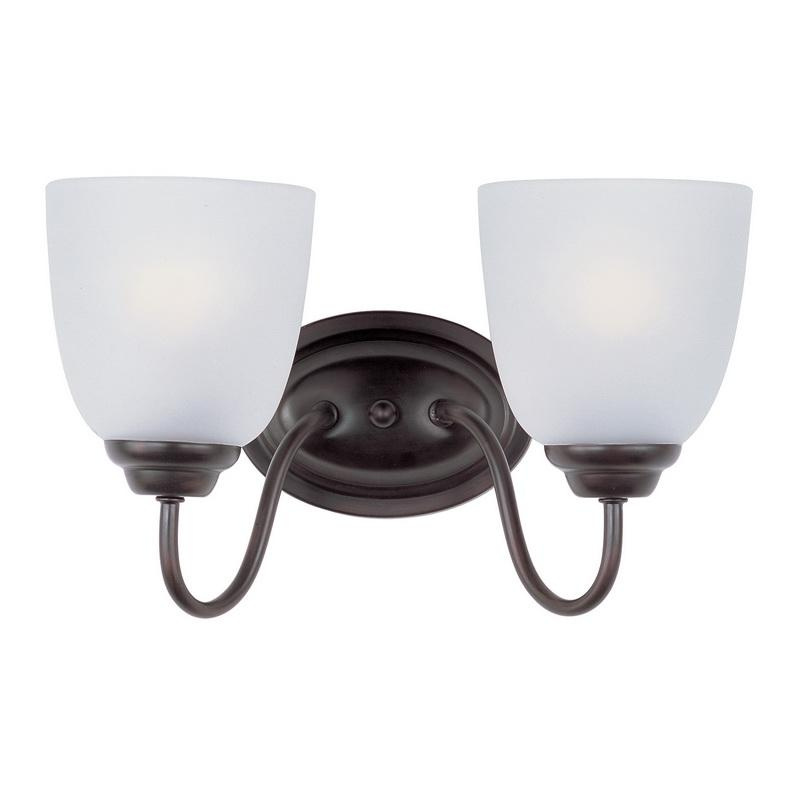 Maxim Lighting 10072FTOI 2-Light Classic Up/Down Mount Bath and Vanity Fixture 60 Watt 120 Volt Oil Rubbed Bronze Stefan