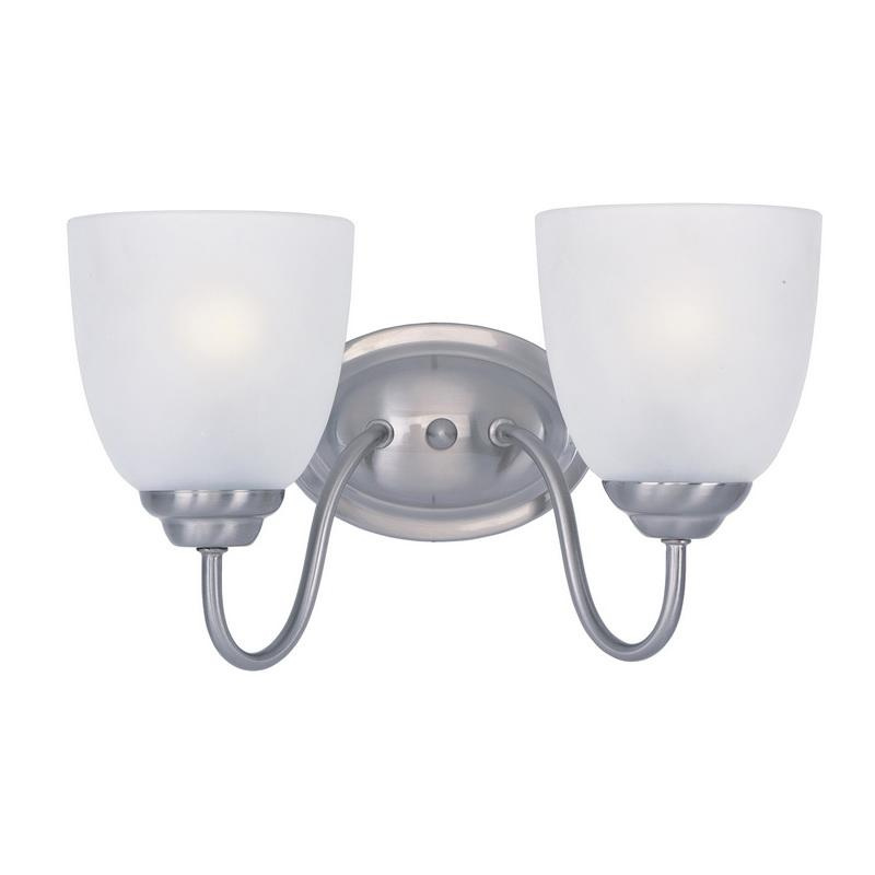 Maxim Lighting 10072FTSN 2-Light Classic Up/Down Mount Bath and Vanity Fixture 60 Watt 120 Volt Satin Nickel Stefan