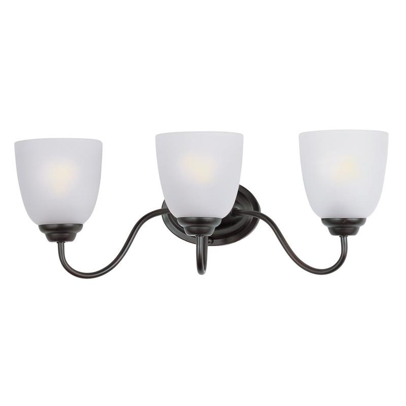Maxim Lighting 10073FTOI 3-Light Classic Up/Down Mount Bath and Vanity Fixture 60 Watt 120 Volt Oil Rubbed Bronze Stefan