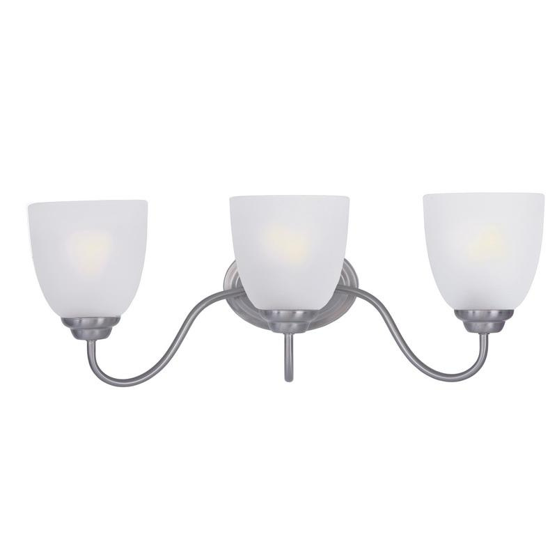Maxim Lighting 10073FTSN 3-Light Classic Up/Down Mount Bath and Vanity Fixture 60 Watt 120 Volt Satin Nickel Stefan