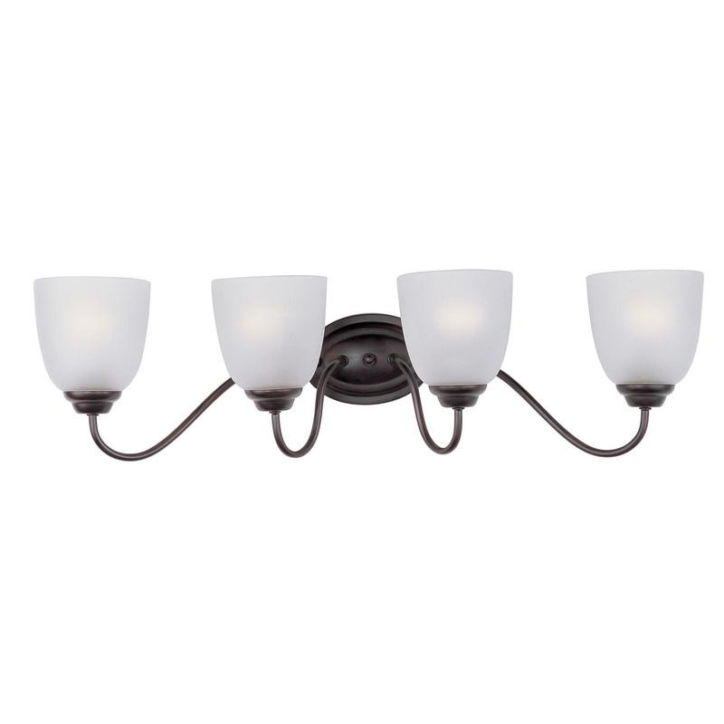 Maxim Lighting 10074FTOI 4-Light Classic Up/Down Mount Bath and Vanity Fixture 60 Watt 120 Volt Oil Rubbed Bronze Stefan