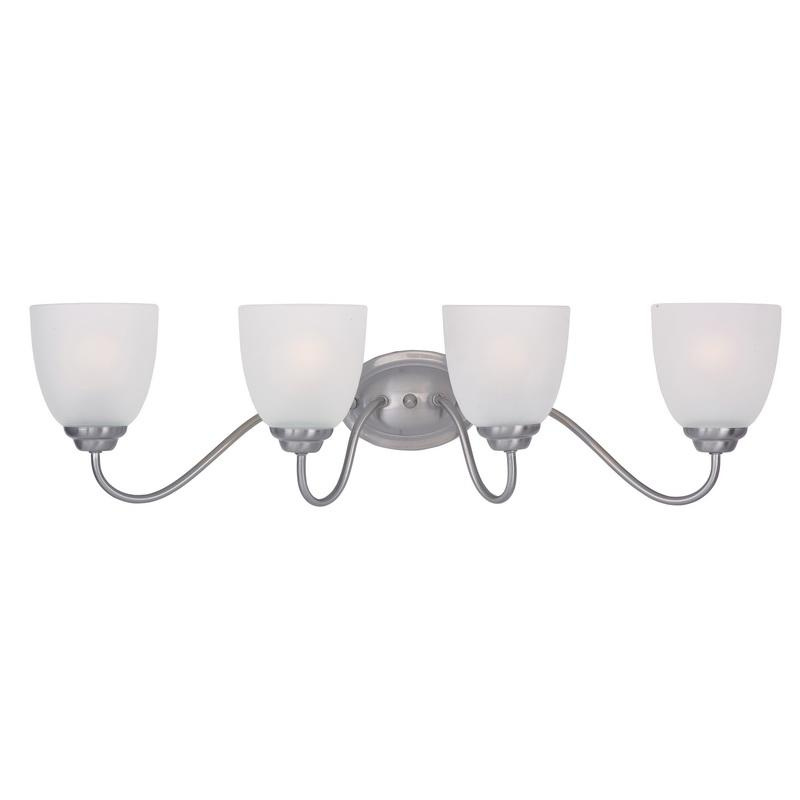 Maxim Lighting 10074FTSN 4-Light Classic Up/Down Mount Bath and Vanity Fixture 60 Watt 120 Volt Satin Nickel Stefan