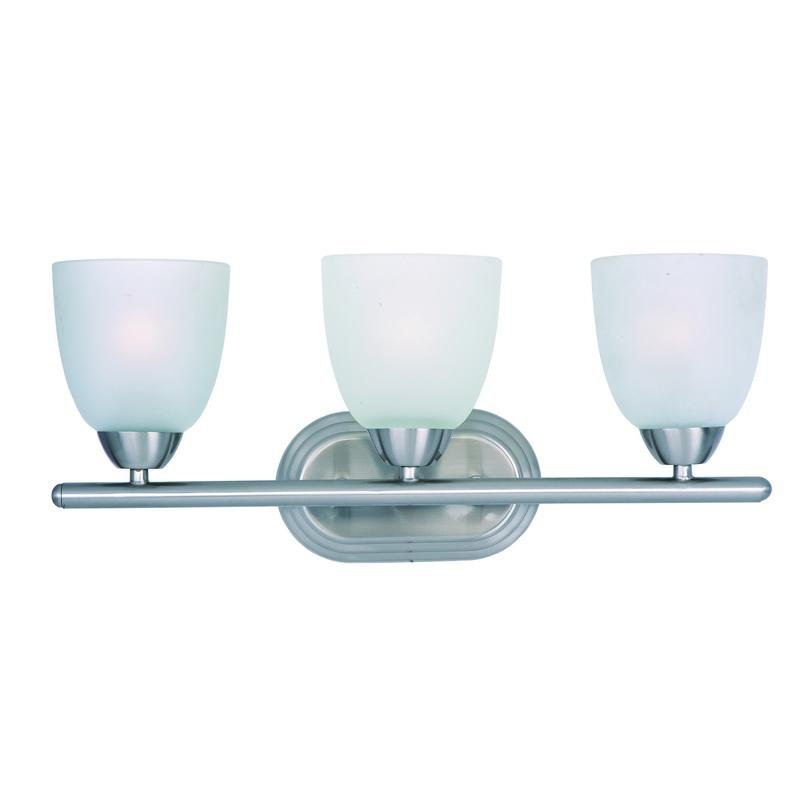 Maxim Lighting 11313FTSN 3-Light Classic Up/Down Mount Bath and Vanity Fixture 180 Watt 120 Volt Satin Nickel Axis
