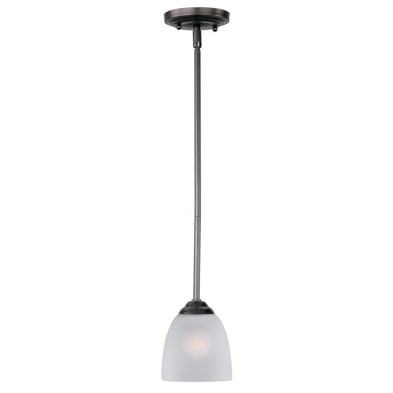 Maxim Lighting 92061FTOI 1-Light Mini Pendant Fixture 60 Watt 120 Volt Oil Rubbed Bronze Stefan