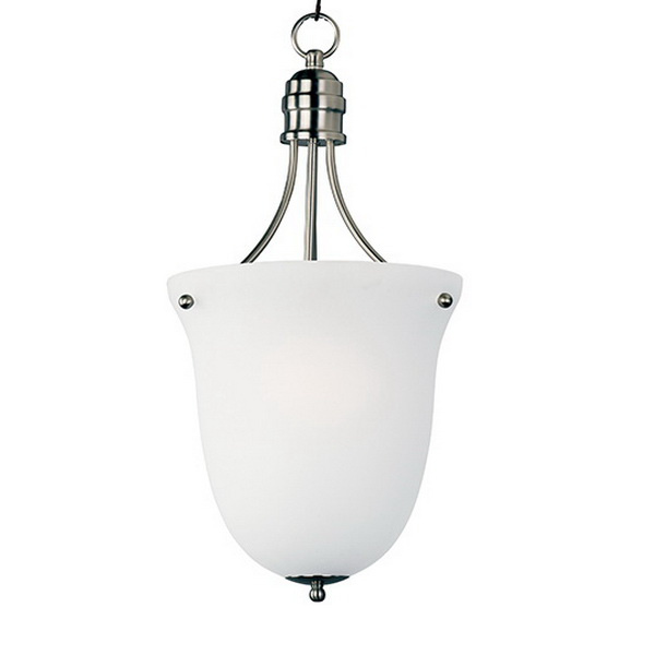 Maxim Lighting 10048FTSN 3-Light Pendant Fixture 60 Watt 120 Volt Satin Nickel Logan
