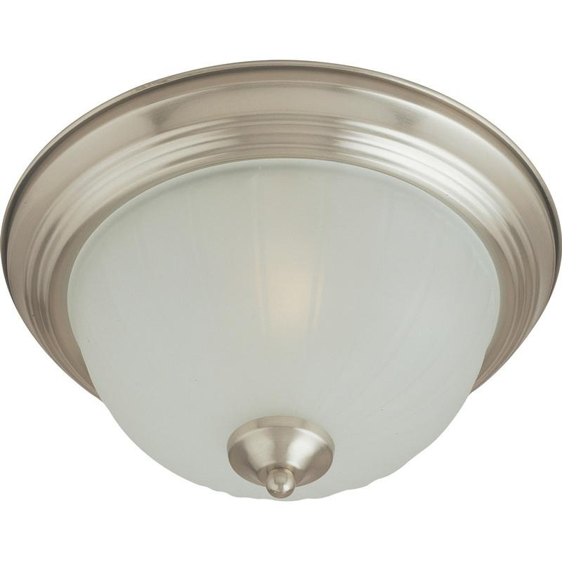 Maxim Lighting 5830FTSN 1-Light Flush Mount Ceiling Fixture 60 Watt 120 Volt Satin Nickel Essentials - 583x