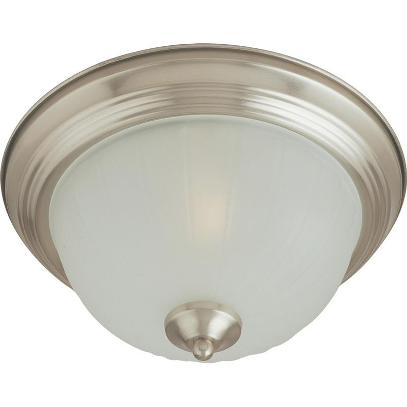 Maxim Lighting 5832FTSN 3-Light Flush Mount Ceiling Fixture 60 Watt 120 Volt Satin Nickel Essentials - 583x