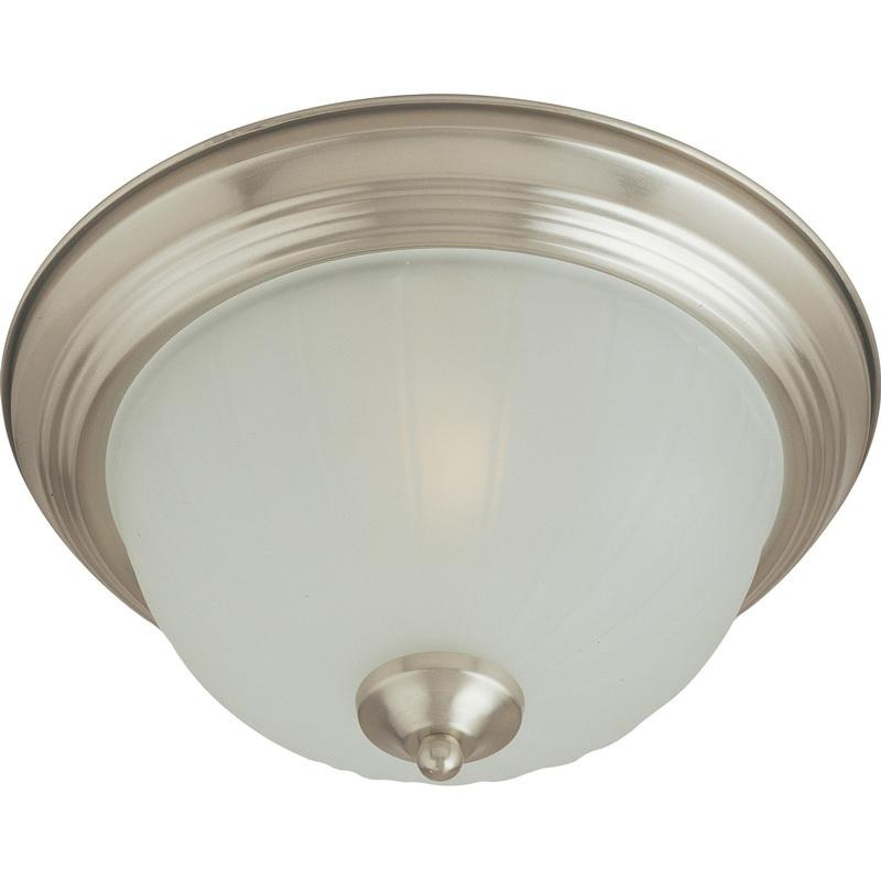 Maxim Lighting 5831FTSN 2-Light Flush Mount Ceiling Fixture 60 Watt 120 Volt Satin Nickel Essentials - 583x