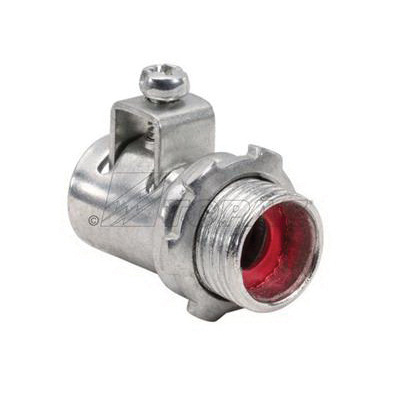 Topaz Electric 639TBS Zinc Plated Steel Insulated Throat Saddle Straight Top-Bite Connector 3-1/2 Inch