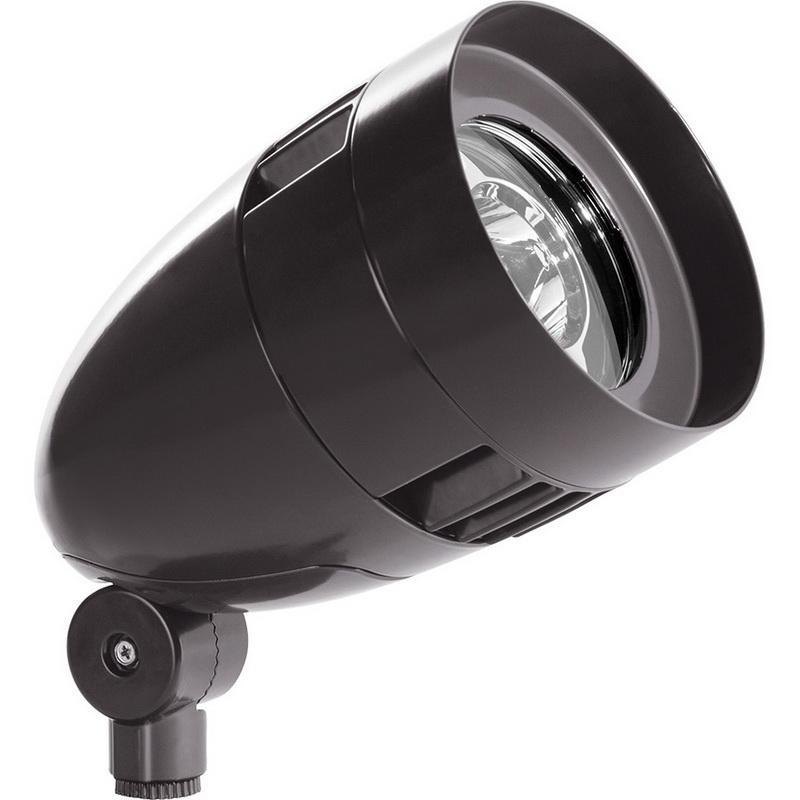 Rab HBLED26YA Bullet HBLED Series LED Flood Light Fixture 26 Watt 120 - 277 Volt 3000K Arm Mount Bronze