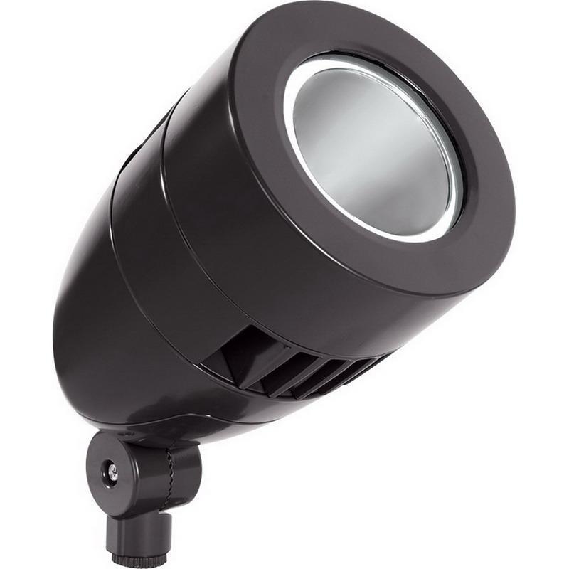 Rab HSLED26A Bullet HSLED LED Flood Light Fixture With Spotlighting 26 Watt 120 - 277 Volt 5000K Arm Mount Bronze