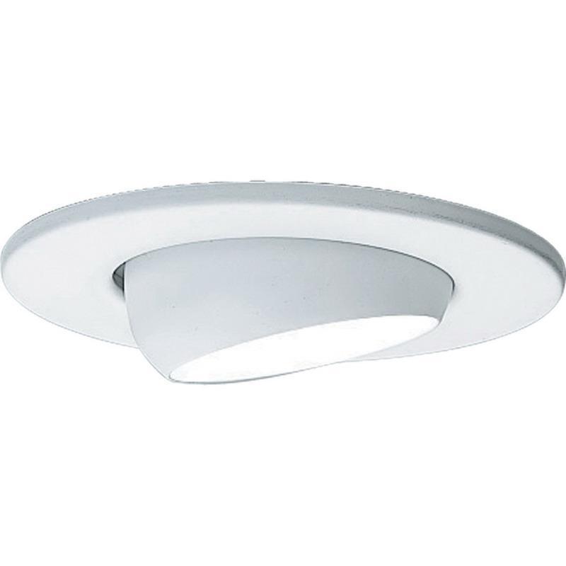 Progress Lighting P8046-28 IC/Non-IC 4 Inch Round Recessed Eyeball Trim 1-Light White