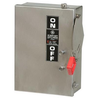 GE Industrial TH3362SS 3 Wire 3 Pole Fusible Type TH Heavy-Duty Safety Switch 600 Volt AC 60 Amp NEMA 4/4X Spec-Setter™