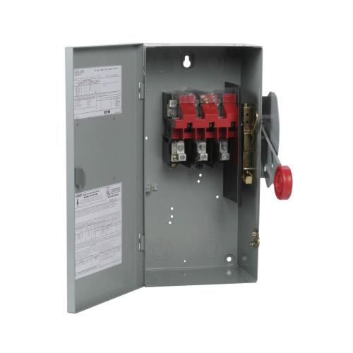 Eaton DH362UGK 3 Wire 3 Pole Non-Fusible K Series Heavy-Duty Safety Switch 600 Volt AC 60 Amp NEMA 1