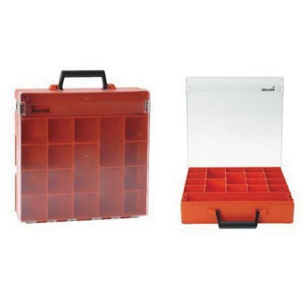 Rolacase RC001/CL Polycarbonate Lid Case 14-9/16 Inch x 14-9/16 Inch x 3-11/32 Inch Orange