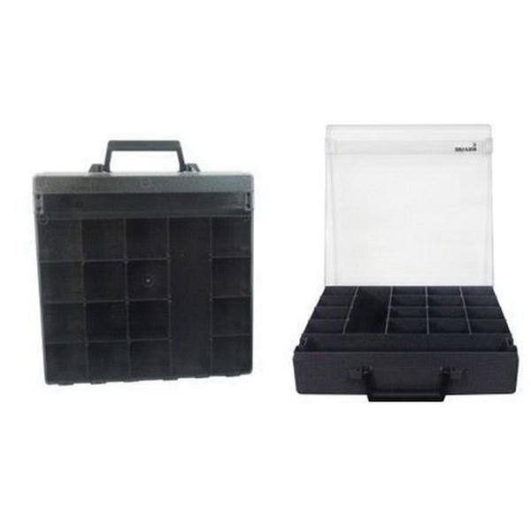 Rolacase RC001/CH-CL Polycarbonate Lid Rola Case 14-9/16 Inch x 14-9/16 Inch x 3-11/32 Inch Charcoal