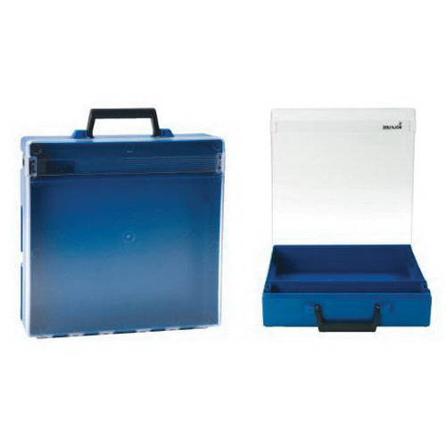 Rolacase RC002/CL Case Without Divider 370 mm x 370 mm x 85 mm Polycarbonate Blue/Clear Lid